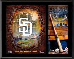 "San Diego Padres Sublimated 12"" x 15"" Team Logo Plaque"