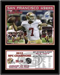 San Francisco 49ers 2012 NFC Champions 12'' x 15'' Sublimated Plaque - Mounted Memories