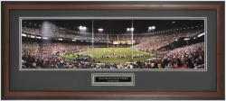 San Francisco 49ers vs. Giants End Zone at 3COM Framed Panoramic - Mounted Memories