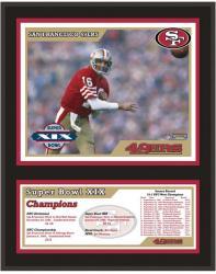 """San Francisco 49ers 12"""" x 15"""" Sublimated Plaque - Super Bowl XIX"""
