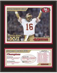 """San Francisco 49ers 12"""" x 15"""" Sublimated Plaque - Super Bowl XVI"""