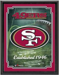"San Francisco 49ers Team Logo Sublimated 10.5"" x 13"" Plaque - Mounted Memories"