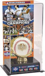 San Francisco Giants 2012 World Series Champions Gold Glove Team Logo Baseball Display Case - Mounted Memories
