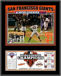 "San Francisco Giants 2012 World Series Champions Sublimated 12"" x 15"" Team Plaque - Mounted Memories"