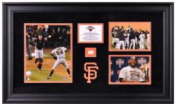 San Francisco Giants 2012 World Series Framed 3-Photograph Collectible with Game Used Baseball-Limited Edition of 250 - Mounted Memories
