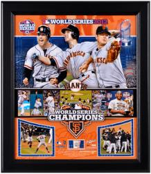 San Francisco Giants 2012 World Series Framed Collage with Game-Used Baseball-Limited Edition of 500 - Mounted Memories