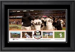 "San Francisco Giants 2014 National League Champions Framed 10"" x 18"" Panoramic with Game-Used Baseball - Limited Edition of 500"