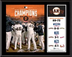 "San Francisco Giants 2014 National League Champions Sublimated 12"" x 15"" Plaque"