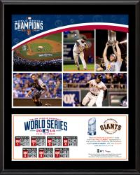 """San Francisco Giants 2014 World Series Champions 12"""" x 15"""" Sublimated Plaque"""