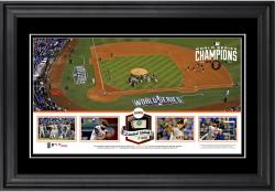 """San Francisco Giants 2014 World Series Champions Framed 10"""" x 18"""" Panoramic with Game-Used World Series Baseball - Limited Edition of 250"""