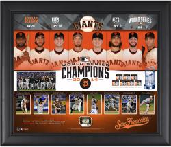 """San Francisco Giants 2014 World Series Champions Framed 20"""" x 24"""" Collage with Game-Used World Series Baseball - Limited Edition of 250"""
