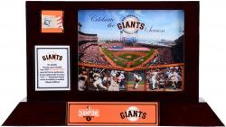 San Francisco Giants 2014 World Series Champions Framed Desktop Display with Game-Used Baseball