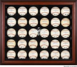 San Francisco Giants 2014 World Series Champions Mahogany Framed 30-Ball Display Case