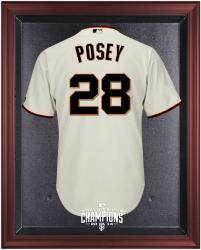 San Francisco Giants 2014 World Series Champions Mahogany Framed Logo Jersey Display Case