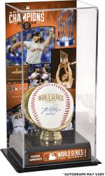 San Francisco Giants Madison Bumgarner Autographed 2014 World Series Baseball with 14 WS MVP Inscription and 2014 World Series Champions Sublimated Baseball Display Case