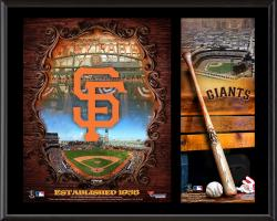 San Francisco Giants Sublimated 12'' x 15'' Team Logo Plaque - Mounted Memories