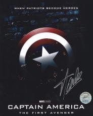 San Lee Signed Captain America 8x10 Photo *Marvel *The First Avenger S. Lee Holo