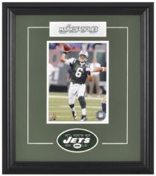 New York Jets Mark Sanchez Framed Photo and Plate - Mounted Memories