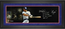 Ryne Sandberg Chicago Cubs Framed Autographed 10'' x 30'' Filmstrip Photograph with Multiple Inscription-Limited Edition of 12 - Mounted Memories