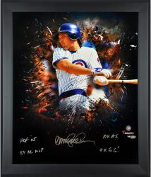 """Ryne Sandberg Chicago Cubs Framed Autographed 20"""" x 24"""" In Focus Photograph with Multiple Inscriptions-Limited Edition of 12"""