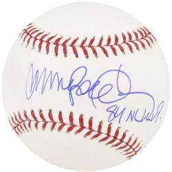 Ryne Sandberg Chicago Cubs Autographed Baseball with 84 NL MVP Inscription