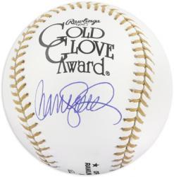 Ryne Sandberg Autographed Gold Glove Award Baseball  - Mounted Memories