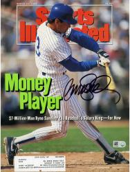 Ryne Sandberg Chicago Cubs Autographed Money Player Sports Illustrated  - Mounted Memories