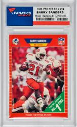 SANDERS, BARRY (1989 PROS ET RC # 494) CARD - Mounted Memories