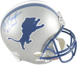 Barry Sanders Detroit Lions Autographed Riddell Replica Helmet with 10x Pro Bowl Inscription - Mounted Memories