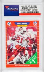 Barry Sanders Detroit Lions Autographed 1989 Pro Set #494 Rookie Card  - Mounted Memories