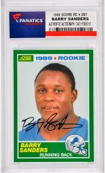 Barry Sanders Detroit Lions Autographed 1989 Score #257 Rookie Card -