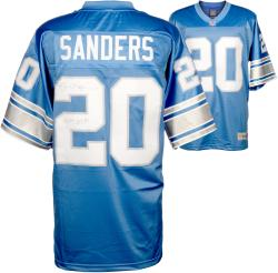 Barry Sanders Detroit Lions Autographed Pro Line Blue Jersey with 1997 MVP Inscription - Mounted Memories