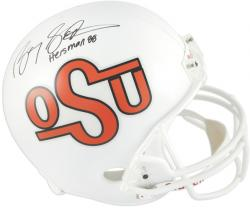 Barry Sanders Oklahoma State Cowboys Autographed Riddell Replica Throwback Helmet with Heisman 88 Inscription