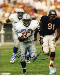 "Barry Sanders Detroit Lions Autographed 8"" x 10"" vs Chicago Bears Photograph"