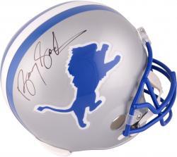Barry Sanders Detroit Lions Autographed Riddell Replica Helmet