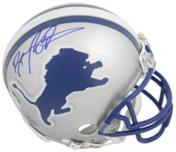 Barry Sanders Detroit Lions Autographed Replica Mini Helmet - Mounted Memories