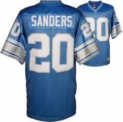Barry Sanders Detroit Lions Autographed Pro Line Blue Jersey