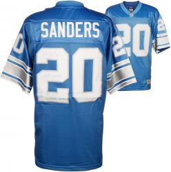 Barry Sanders Detroit Lions Autographed Pro Line Blue Jersey with Multiple Inscriptions-#2-19 of a Limited Edition of 20 - Mounted Memories
