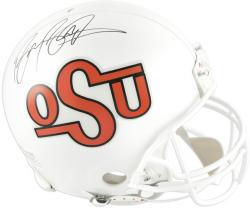 Barry Sanders Oklahoma State Cowboys Autographed Authentic Riddell Pro-Line Helmet - Mounted Memories