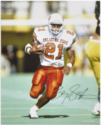 "Barry Sanders Oklahoma State Cowboys Autographed 16"" x 20"" Ball in Right Hand Photograph - Mounted Memories"