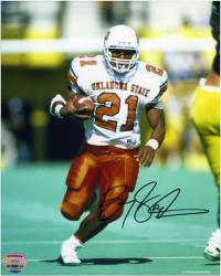 Barry Sanders Oklahoma State Cowboys Autographed 8'' x 10'' Photograph - - Mounted Memories