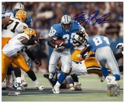 Barry Sanders Detroit Lions Autographed 8'' x 10'' vs Green Bay Packers Photograph - Mounted Memories
