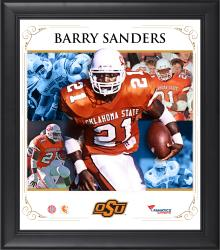 "Barry Sanders Oklahoma State Cowboys Framed 15"" x 17"" Core Composite Photograph"