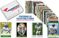 Barry Sanders Detroit Lions Collectible Lot of 20 NFL Trading Cards - Mounted Memories