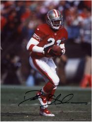 Deion Sanders San Francisco 49ers Autographed 8'' x 10'' With Ball Photograph - Mounted Memories