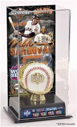Pablo Sandoval San Francisco Giants 2012 World Series Champions Baseball Display Case with Gold Glove & Plate - Mounted Memories
