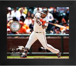 "Pablo Sandoval San Francisco Giants Framed 20"" x 24"" Gamebreaker Photograph with Game-Used Ball"