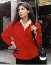 "Sandra Bullock Autographed 8""x 10"" Red Jacket Photograph - PSA/DNA COA"