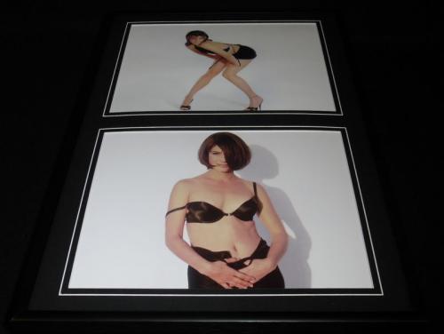 Sandra Bullock Framed 12x18 Lingerie Heels Photo Display
