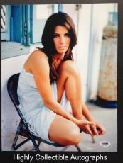 Sandra Bullock Signed 11x14 Photo Autograph Psa Dna Coa